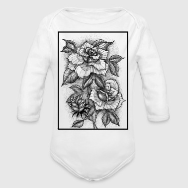 FLOWERING STAGES - Organic Long Sleeve Baby Bodysuit