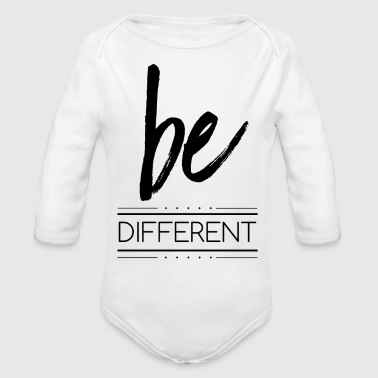 be different - Organic Long Sleeve Baby Bodysuit