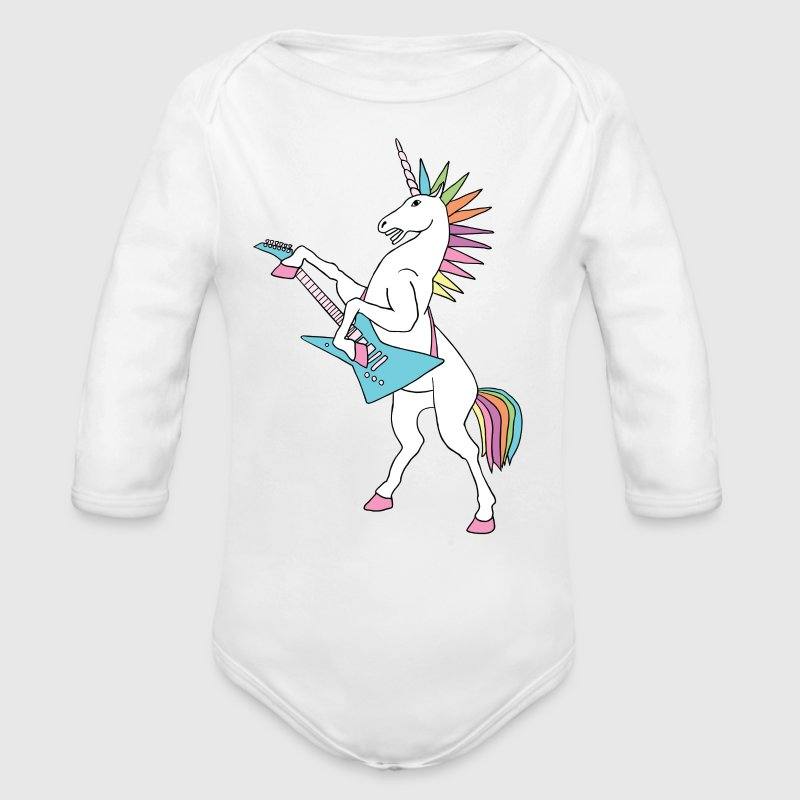 punk rock unicorn - Long Sleeve Baby Bodysuit