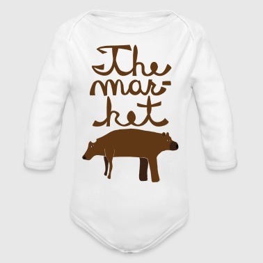 the market - Organic Long Sleeve Baby Bodysuit
