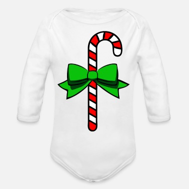 Sweetmeat candy cane - Organic Long-Sleeved Baby Bodysuit