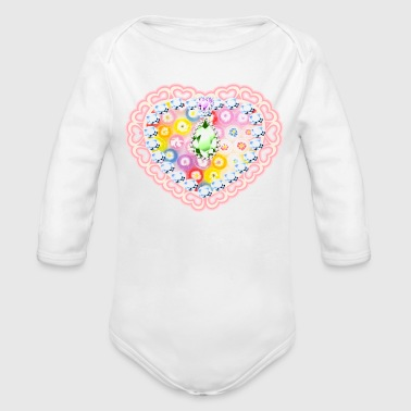 CANDY A - Organic Long Sleeve Baby Bodysuit