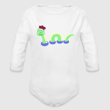 Loch Ness Monster - Organic Long Sleeve Baby Bodysuit
