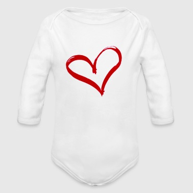 Essence Of True Love And Bond - Organic Long Sleeve Baby Bodysuit