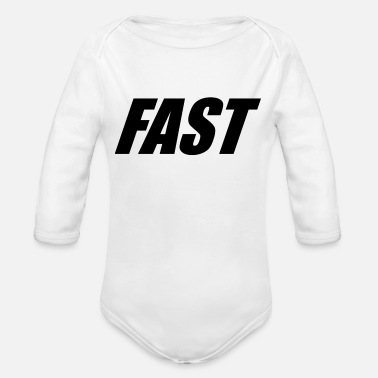 Fast FAST - Organic Long-Sleeved Baby Bodysuit