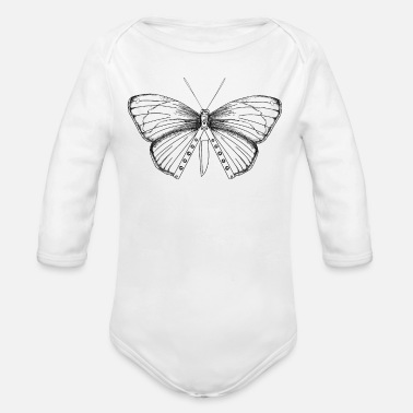 Balisong Balisong Flipping Butterfly Knife Gift - Artistic - Organic Long-Sleeved Baby Bodysuit