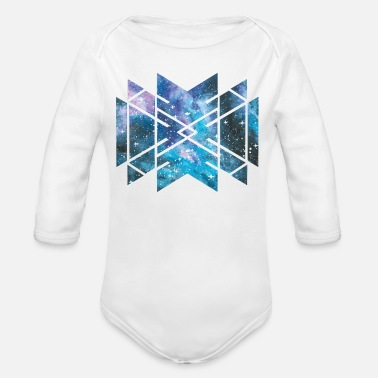 Sacred Geometry Cosmic Galaxy Universe Outer - Organic Long-Sleeved Baby Bodysuit