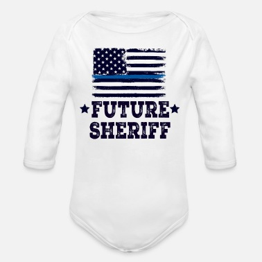 Law Enforcement Future Sheriff Law Enforcement - Organic Long Sleeve Baby Bodysuit
