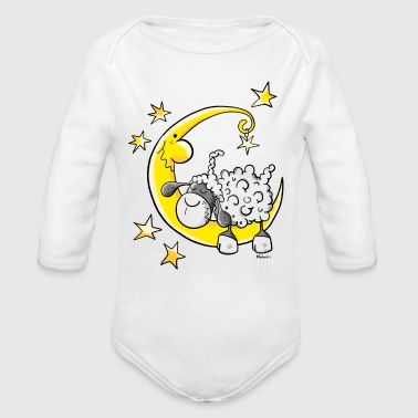 Sheep Sheep in the Moon - Organic Long Sleeve Baby Bodysuit