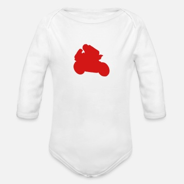 Racing Motorcycle motorcycle racing - Organic Long-Sleeved Baby Bodysuit