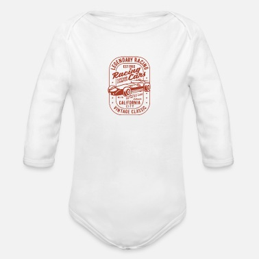 Legendary Racing Cars - Organic Long-Sleeved Baby Bodysuit