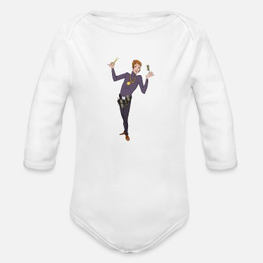 Stylist Hair Stylist - Organic Long Sleeve Baby Bodysuit