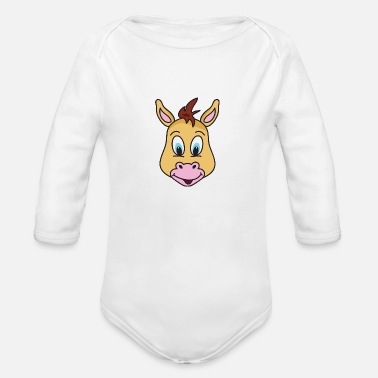 Pony Pony - Organic Long Sleeve Baby Bodysuit