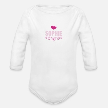 Sophie Sophie, Love, Hearts, Baby, Girls, Birthday, Gifts - Organic Long-Sleeved Baby Bodysuit
