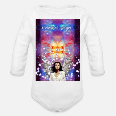 Celestial Bodies Celestial Angel - Organic Long Sleeve Baby Bodysuit