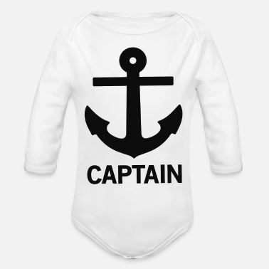 Captain Captain - Organic Long Sleeve Baby Bodysuit