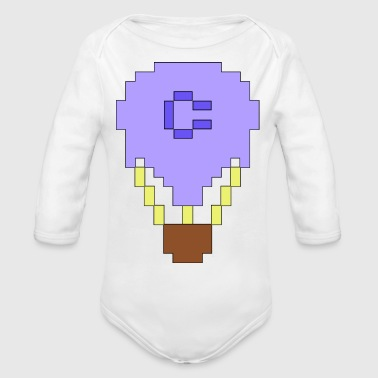 Pimped up C64 sprite balloon - Organic Long Sleeve Baby Bodysuit