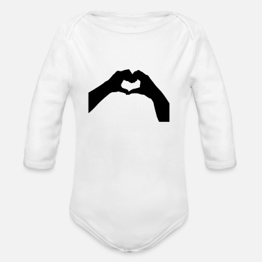 Heart Made With Hands - Organic Long-Sleeved Baby Bodysuit