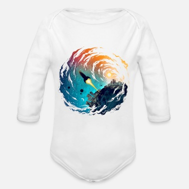 Missile The Missile - Organic Long-Sleeved Baby Bodysuit