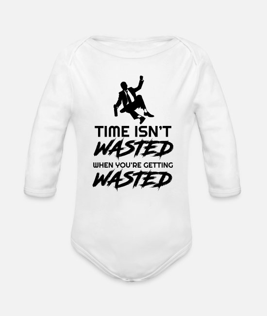 Celebrate Baby One Pieces - Getting - Organic Long-Sleeved Baby Bodysuit white