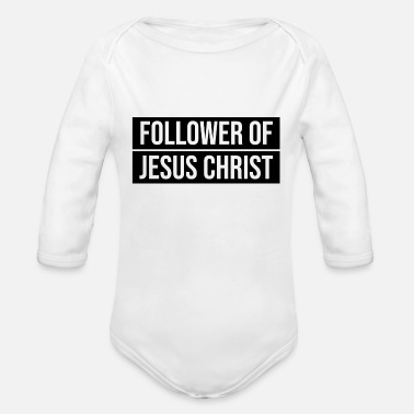 Christ-follower Follower of Jesus Christ - Organic Long-Sleeved Baby Bodysuit