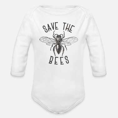 Bee Deaths Bee Bees Bee Save the bees gift - Organic Long-Sleeved Baby Bodysuit