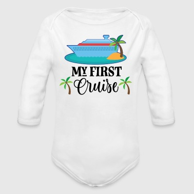 My 1st Cruise Vacation Holiday - Organic Long Sleeve Baby Bodysuit