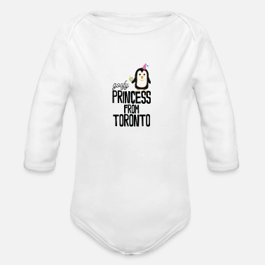 goofy Princess from Toronto - Organic Long-Sleeved Baby Bodysuit