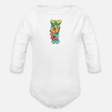 Trio Butterfly Trio - Organic Long-Sleeved Baby Bodysuit