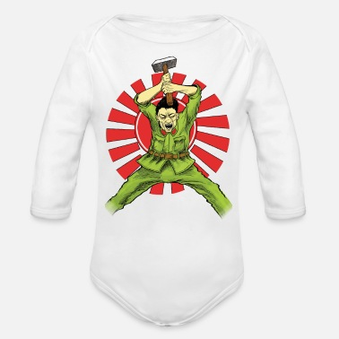 Asian The Asian Warrior - Organic Long Sleeve Baby Bodysuit