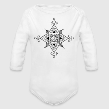 Square The square - Organic Long Sleeve Baby Bodysuit