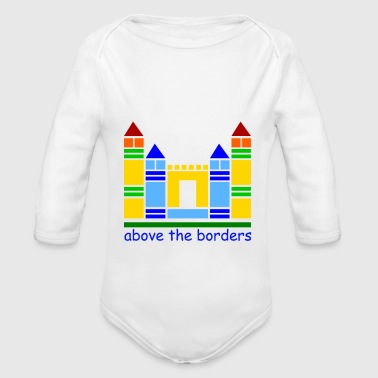 childhood castle - Organic Long Sleeve Baby Bodysuit