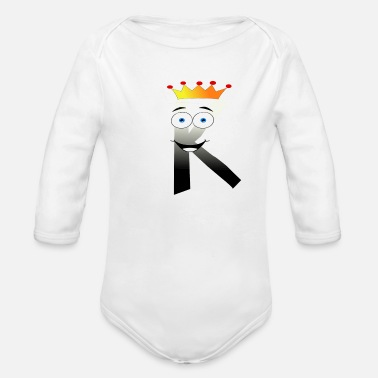 K Alphabet K Alphabet design - Organic Long-Sleeved Baby Bodysuit