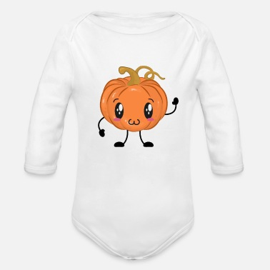 Pumpkin Pumpkin - Organic Long-Sleeved Baby Bodysuit