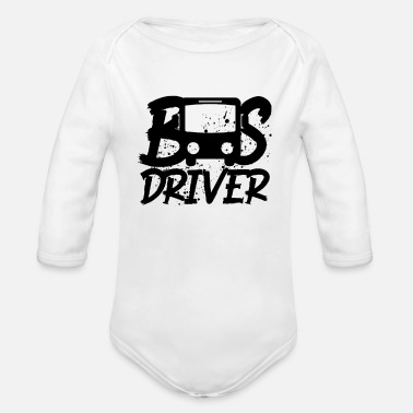 Bus Bus Driver Bus - Organic Long-Sleeved Baby Bodysuit