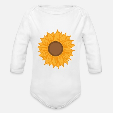 Sunflowers Sunflower - Organic Long-Sleeved Baby Bodysuit