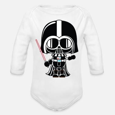 Vader Darth Vader Pregnancy Announcement - Organic Long-Sleeved Baby Bodysuit