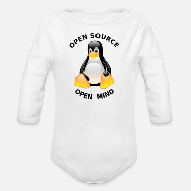 Open Source Open Source Open Mind - Organic Long Sleeve Baby Bodysuit