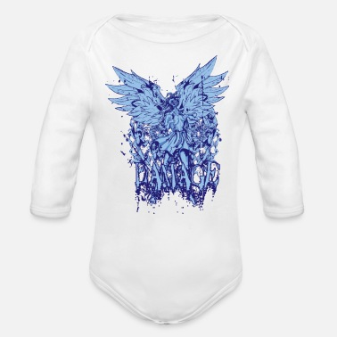 Damage Damage - Organic Long-Sleeved Baby Bodysuit