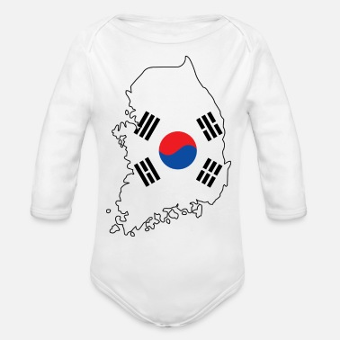 South Korea South Korea - Organic Long-Sleeved Baby Bodysuit