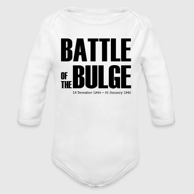 Battle of the Bulge (Black) - Organic Long Sleeve Baby Bodysuit