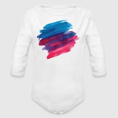 paint brush - Organic Long Sleeve Baby Bodysuit