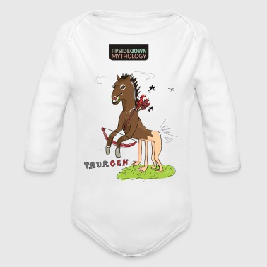 UPSIDEDOWN Mythology - Organic Long Sleeve Baby Bodysuit