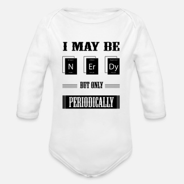 Nerdy Nerdy - Organic Long-Sleeved Baby Bodysuit