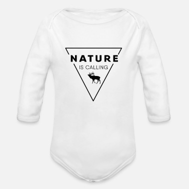 Nature Lovers Nature lover - Nature is calling - Organic Long-Sleeved Baby Bodysuit