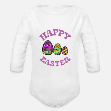 Easter egg - Organic Long-Sleeved Baby Bodysuit