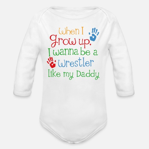 195a3667 Wrestling Daddy Future Wrestler Organic Long-Sleeved Baby Bodysuit ...