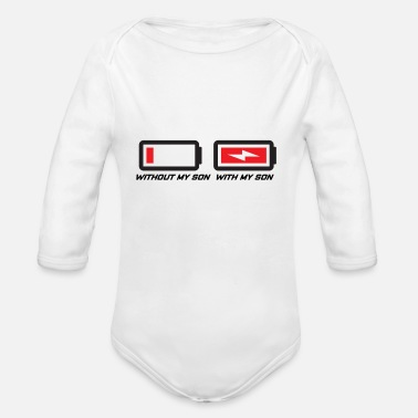 Son Mother and son - Organic Long Sleeve Baby Bodysuit