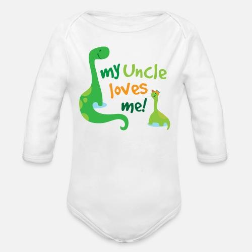 fdf848c318b3 My Uncle Loves Me Dinosaur Nephew Organic Long-Sleeved Baby Bodysuit ...