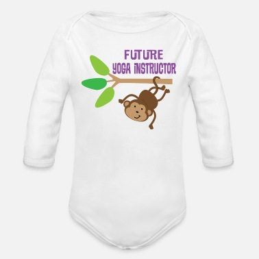 Yoga Future Yoga Instructor - Organic Long Sleeve Baby Bodysuit